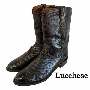 Lucchese Full Quill ostrich boot with goat